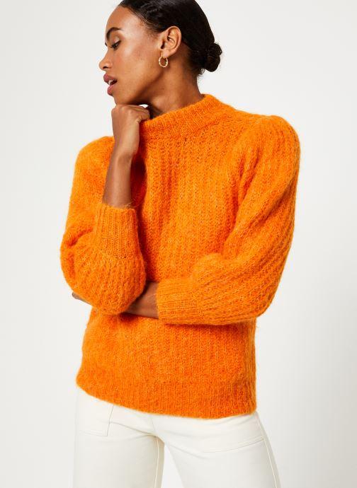 Vêtements Selected Femme Slfpippa Knit Orange vue détail/paire