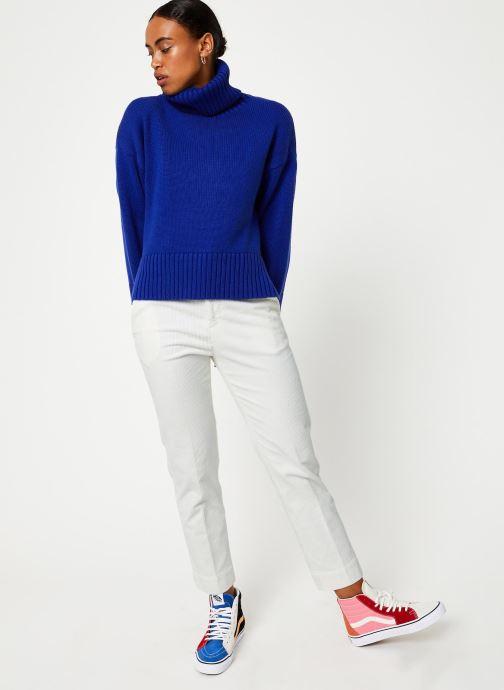 Vêtements Selected Femme Slfasha Knit Bleu vue bas / vue portée sac