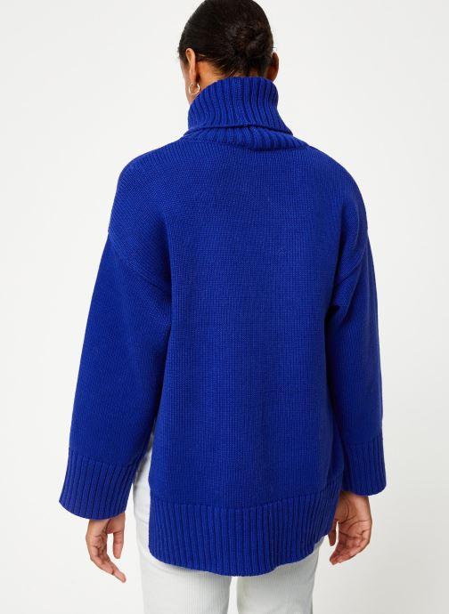 Vêtements Selected Femme Slfasha Knit Bleu vue portées chaussures