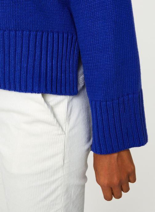 Vêtements Selected Femme Slfasha Knit Bleu vue face