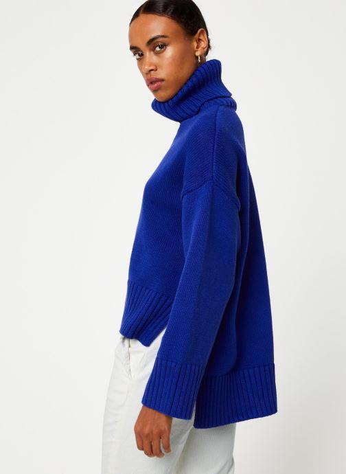 Vêtements Selected Femme Slfasha Knit Bleu vue droite