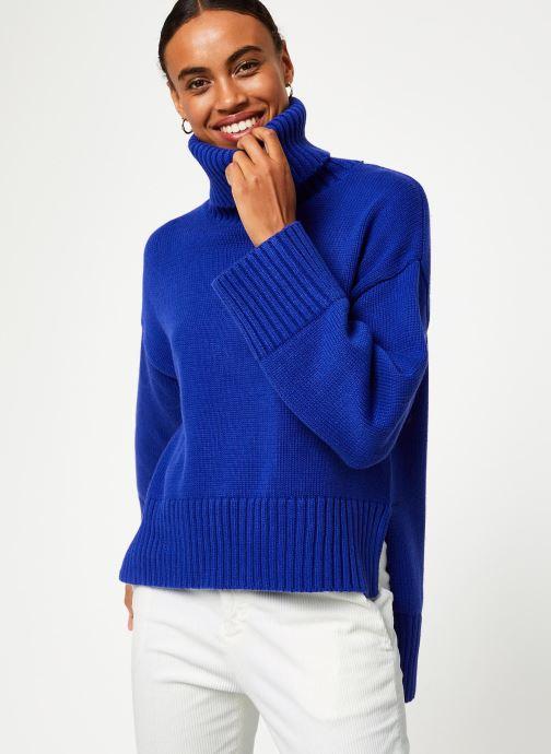 Vêtements Selected Femme Slfasha Knit Bleu vue détail/paire