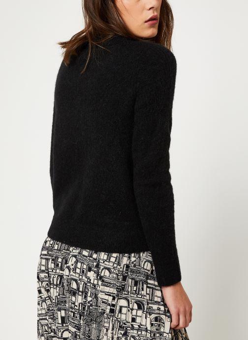 Vêtements Selected Femme Slfsia Knit Noir vue portées chaussures