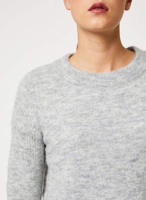 Vêtements Selected Femme Slfsia Knit Gris vue face