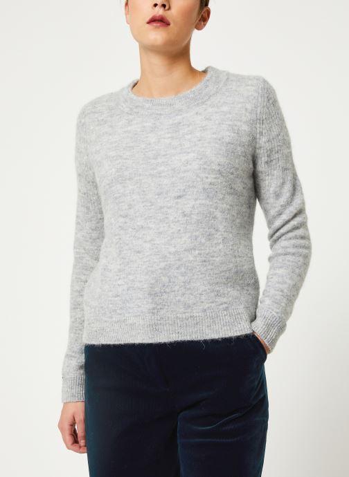 Vêtements Selected Femme Slfsia Knit Gris vue droite
