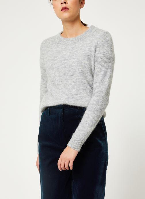Vêtements Selected Femme Slfsia Knit Gris vue détail/paire