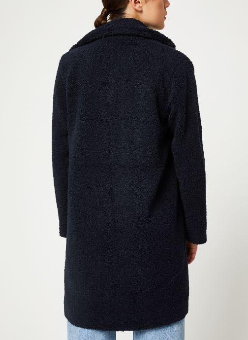 Vêtements Selected Femme Slfnanna Coat Bleu vue portées chaussures