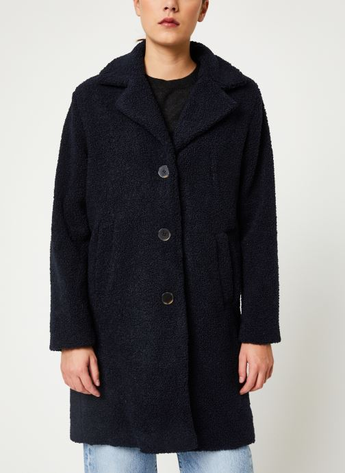 Vêtements Selected Femme Slfnanna Coat Bleu vue droite