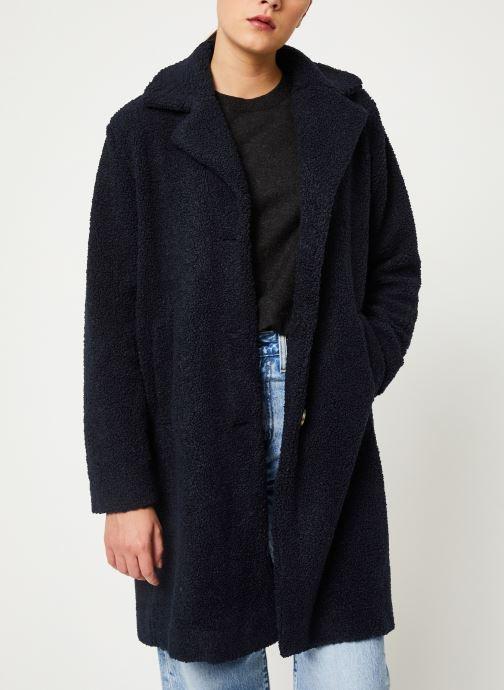 Vêtements Selected Femme Slfnanna Coat Bleu vue détail/paire