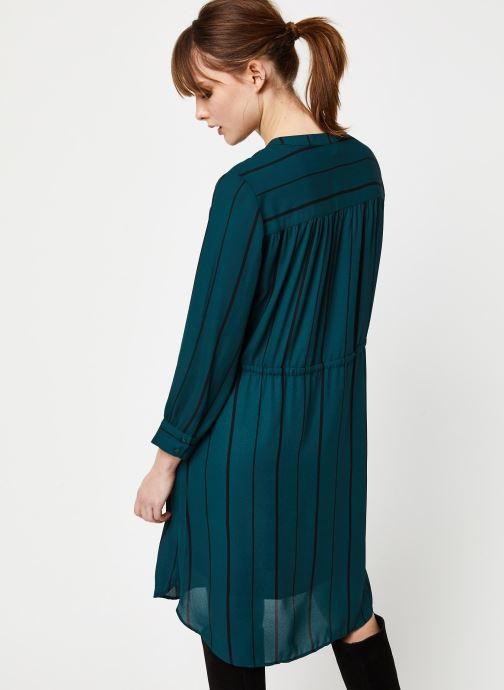 Vêtements Selected Femme Slfdamina Dress Bleu vue portées chaussures