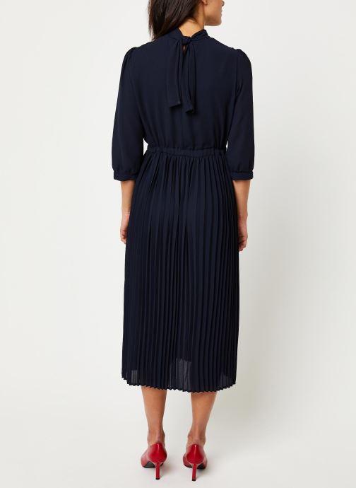 Vêtements Selected Femme Slfbethany Midi Dress Bleu vue portées chaussures
