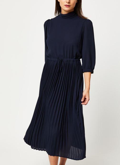 Vêtements Selected Femme Slfbethany Midi Dress Bleu vue droite