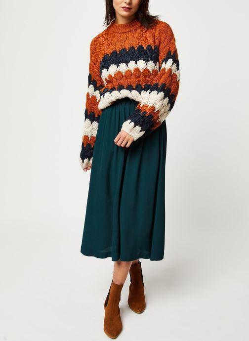 Vêtements Selected Femme Slfbisma Skirt Bleu vue bas / vue portée sac