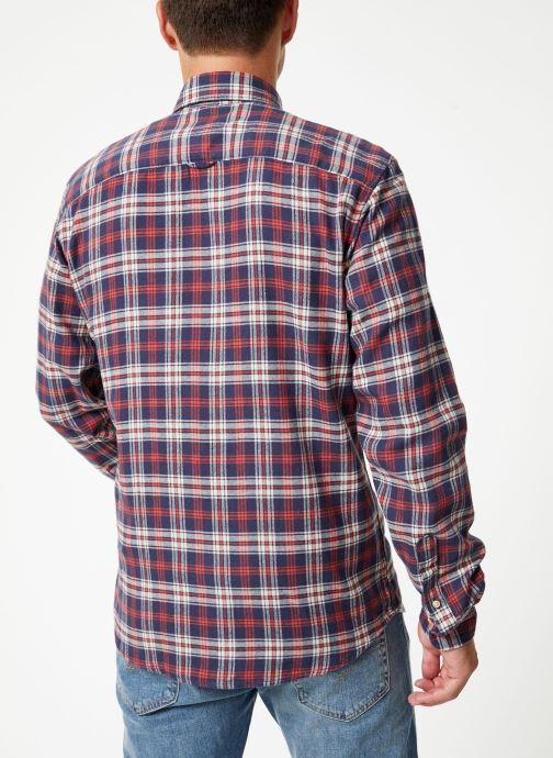 Vêtements Selected Homme Slhslimharry Shirt Rouge vue portées chaussures