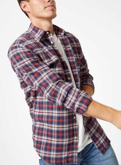 Kleding Selected Homme Slhslimharry Shirt Rood detail