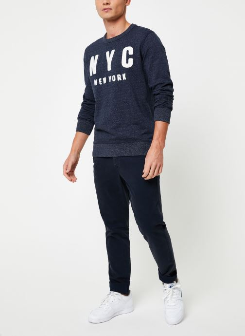 Vêtements Selected Homme Slhsimon City Sweat Bleu vue bas / vue portée sac