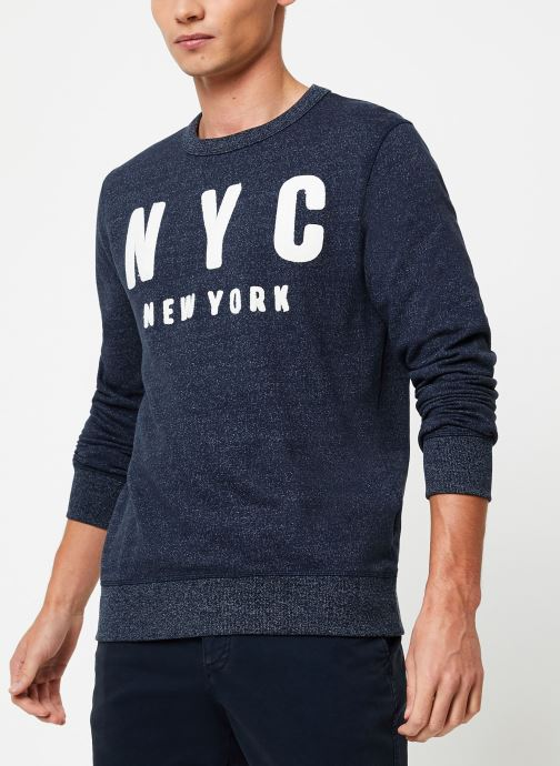 Vêtements Selected Homme Slhsimon City Sweat Bleu vue droite