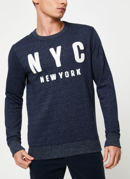 Vêtements Selected Homme Slhsimon City Sweat Bleu vue détail/paire