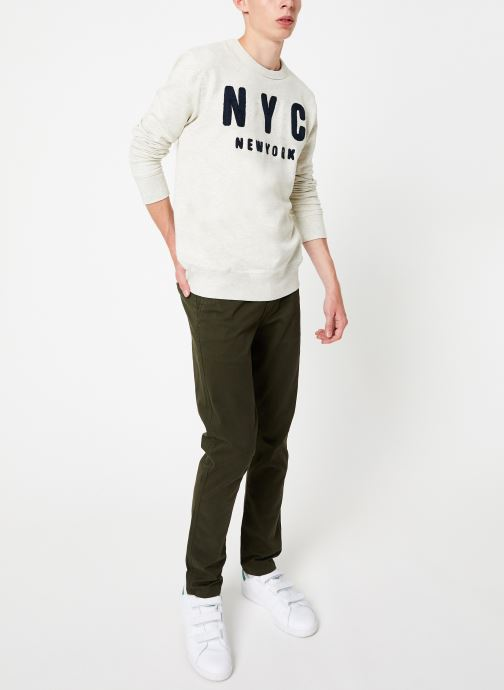 Vêtements Selected Homme Slhsimon City Sweat Blanc vue bas / vue portée sac