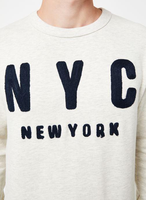 Vêtements Selected Homme Slhsimon City Sweat Blanc vue face