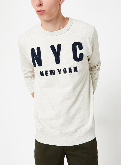 Vêtements Selected Homme Slhsimon City Sweat Blanc vue détail/paire