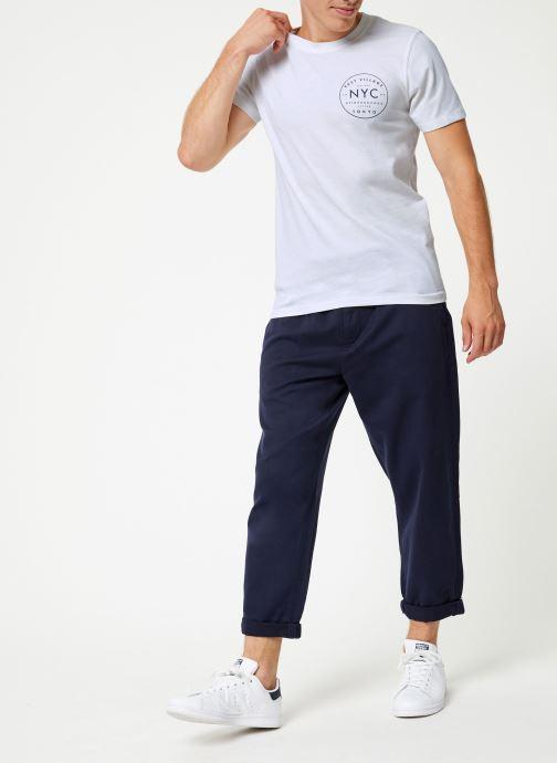 Vêtements Selected Homme Slhpaul Tee Blanc vue bas / vue portée sac