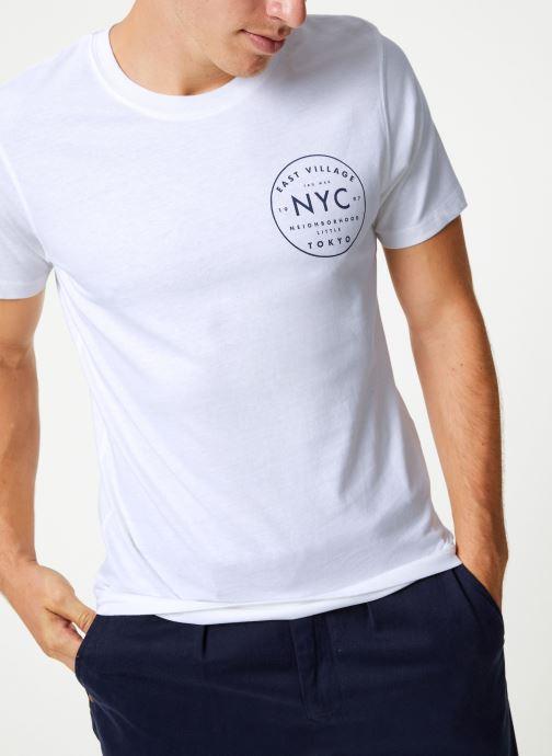 Vêtements Selected Homme Slhpaul Tee Blanc vue détail/paire