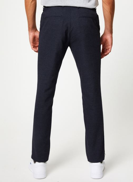 Vêtements Selected Homme Slhslim-Floyd Pant Bleu vue portées chaussures