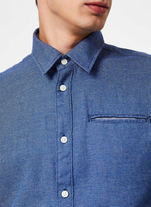 Vêtements Selected Homme Slhslimbob Shirt Bleu vue face