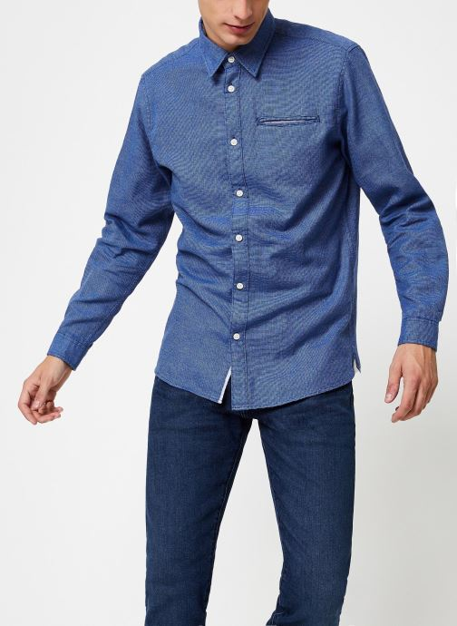 Vêtements Selected Homme Slhslimbob Shirt Bleu vue droite