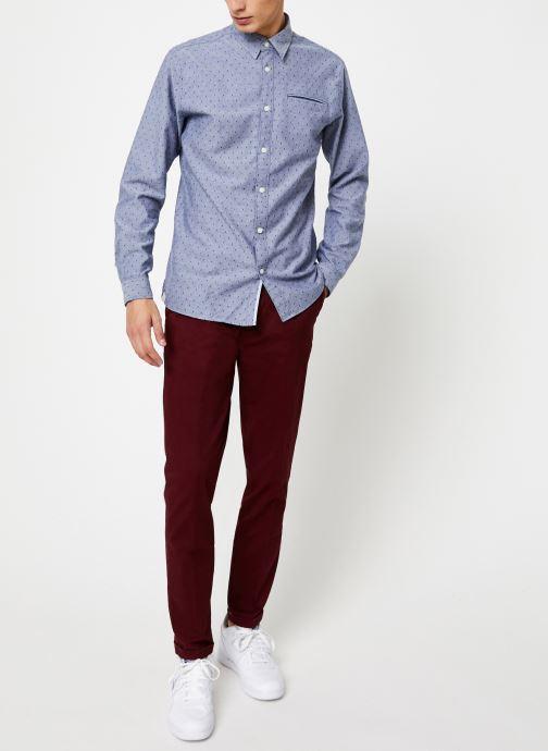 Vêtements Selected Homme Slhslimbob Shirt Bleu vue bas / vue portée sac