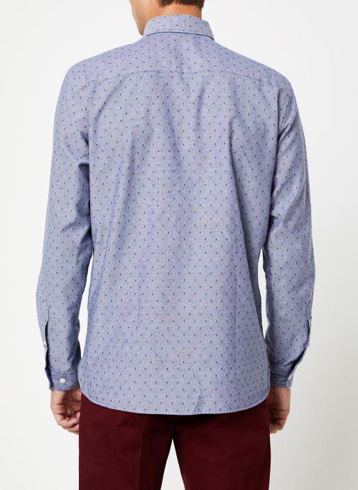 Kleding Selected Homme Slhslimbob Shirt Blauw model