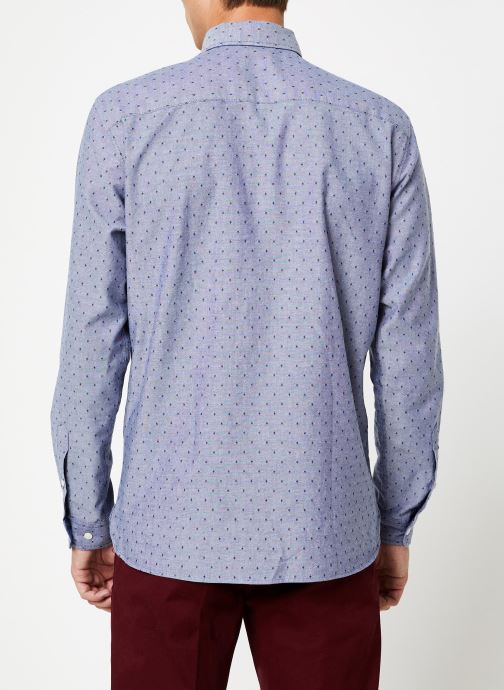 Vêtements Selected Homme Slhslimbob Shirt Bleu vue portées chaussures