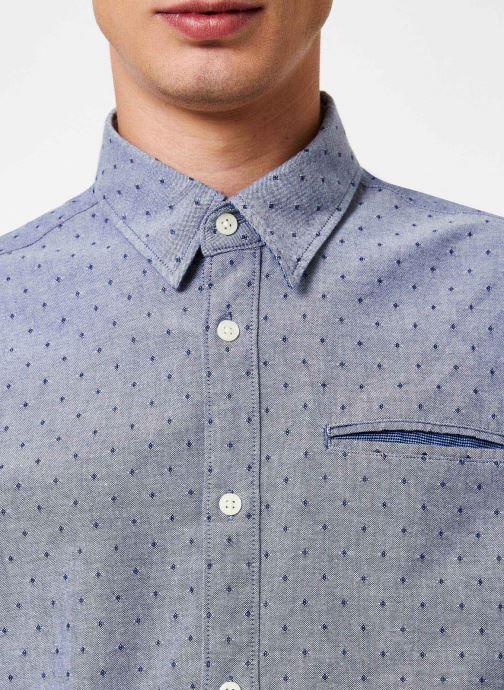 Vêtements Selected Homme Slhslimbob Shirt Bleu vue face