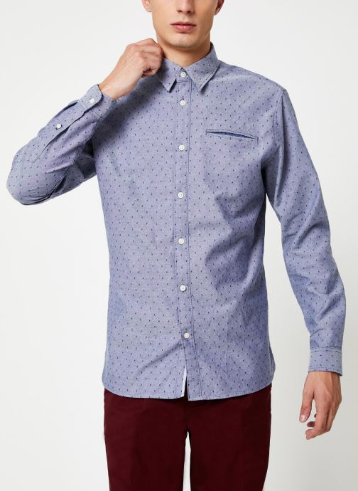 Kleding Selected Homme Slhslimbob Shirt Blauw rechts