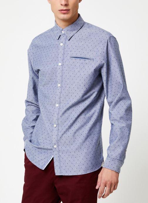 Kleding Selected Homme Slhslimbob Shirt Blauw detail