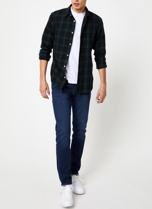 Vêtements Selected Homme Slhslimwood Shirt Vert vue bas / vue portée sac