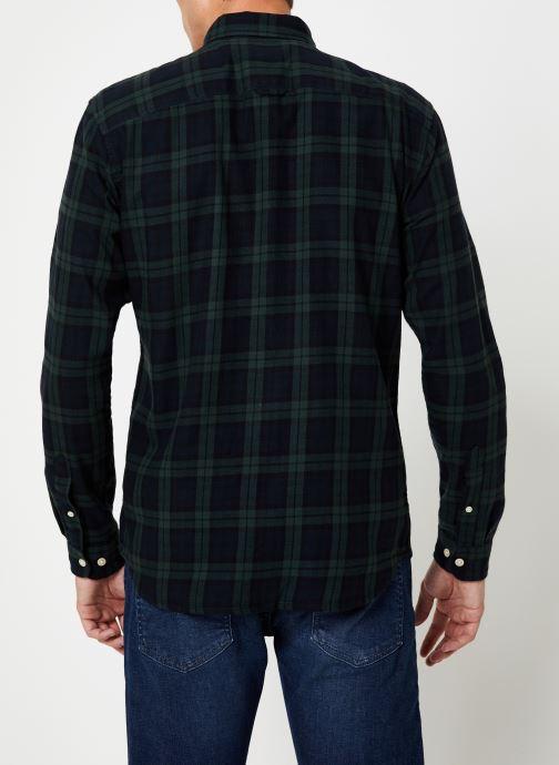 Vêtements Selected Homme Slhslimwood Shirt Vert vue portées chaussures