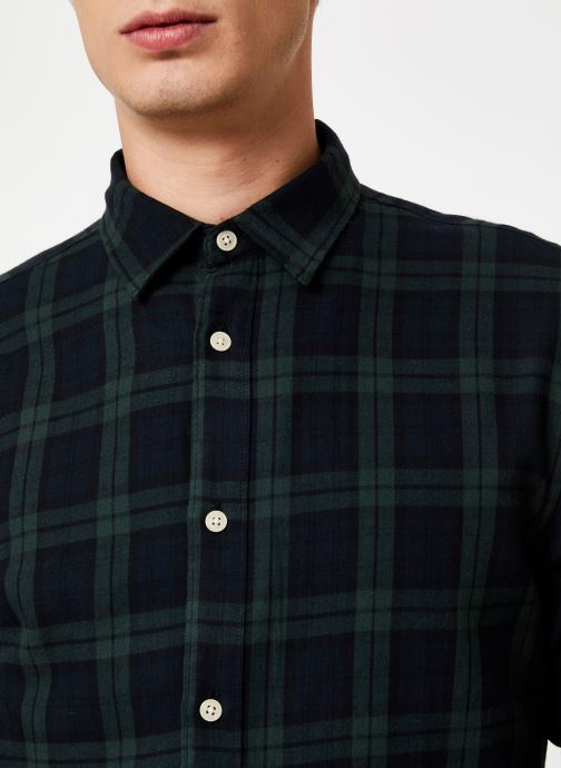 Vêtements Selected Homme Slhslimwood Shirt Vert vue face