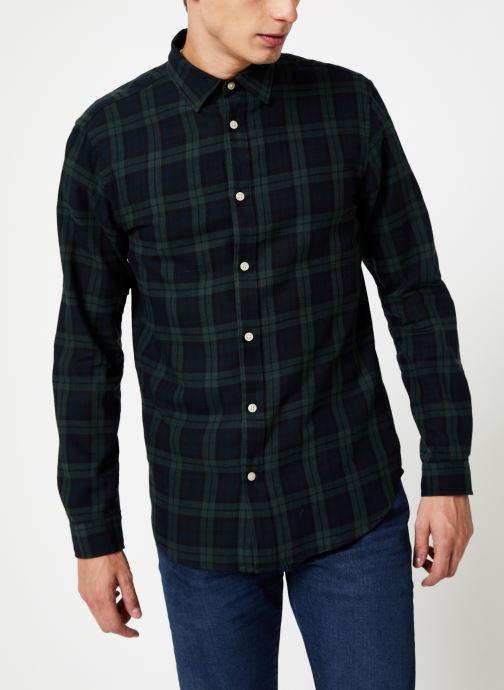 Vêtements Selected Homme Slhslimwood Shirt Vert vue droite