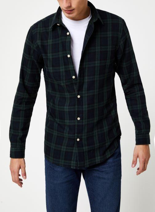 Vêtements Selected Homme Slhslimwood Shirt Vert vue détail/paire