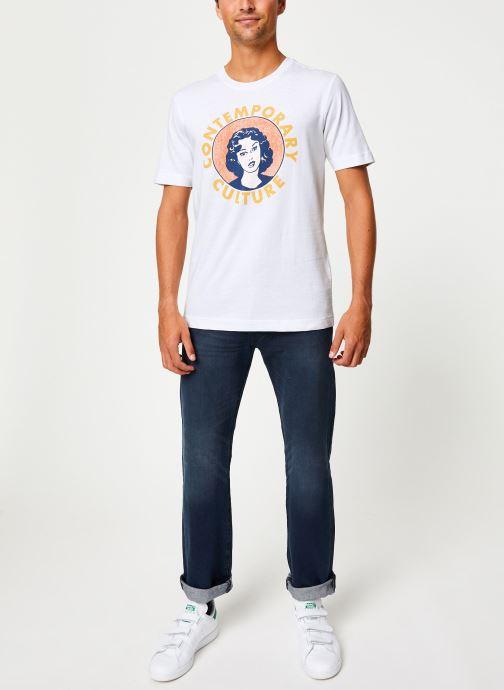 Vêtements Selected Homme Slhivar Print Tee Blanc vue bas / vue portée sac