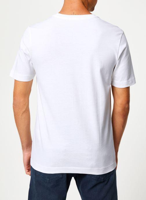 Vêtements Selected Homme Slhivar Print Tee Blanc vue portées chaussures