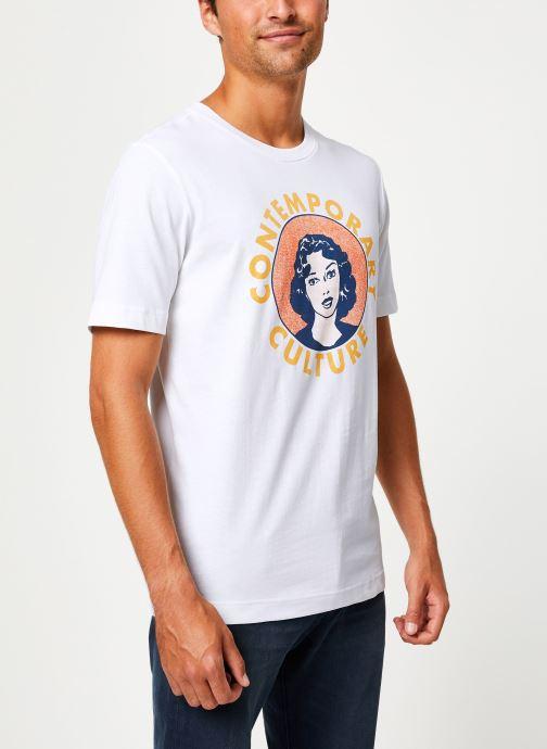Vêtements Selected Homme Slhivar Print Tee Blanc vue détail/paire