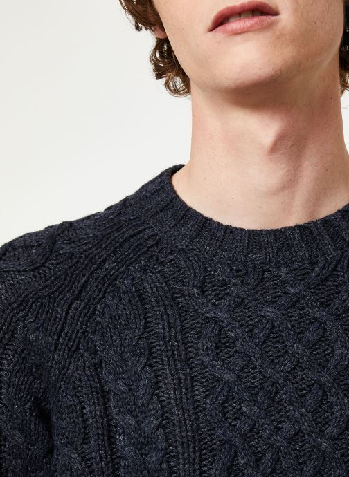 Vêtements Selected Homme Slhfred Knit Bleu vue face