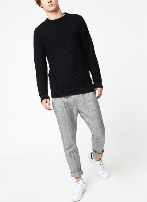Vêtements Selected Homme Slhrolf Structure Noir vue bas / vue portée sac
