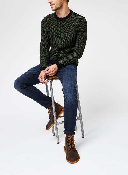 Vêtements Selected Homme Slhaiden Knit Vert vue bas / vue portée sac