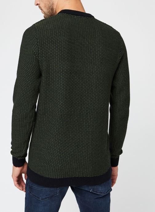 Vêtements Selected Homme Slhaiden Knit Vert vue portées chaussures