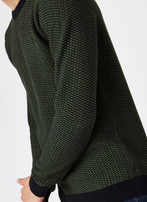 Vêtements Selected Homme Slhaiden Knit Vert vue face