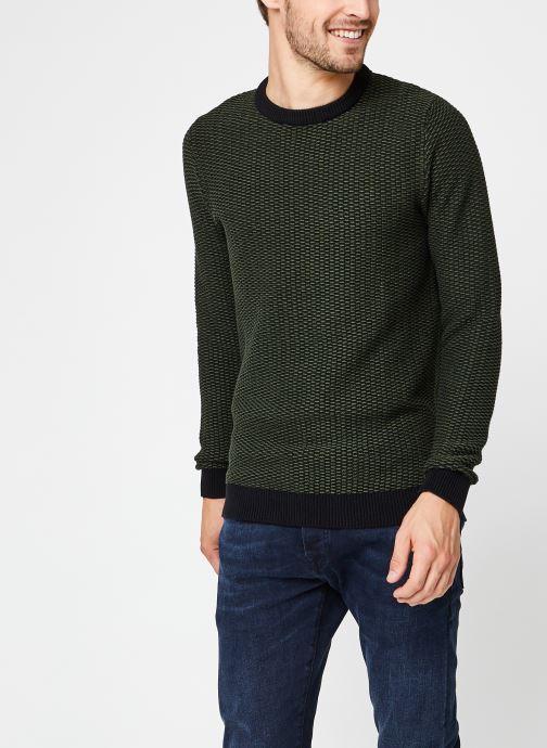 Vêtements Selected Homme Slhaiden Knit Vert vue droite